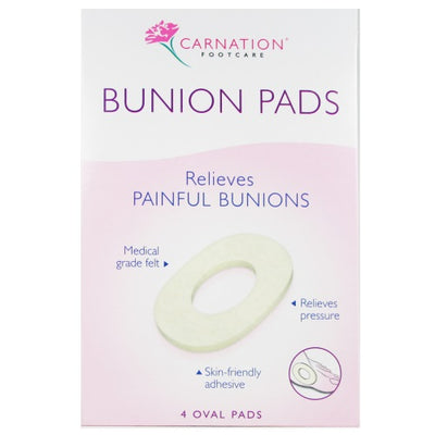 CARNATION Foot Bunion Ring Oval 4 Pack