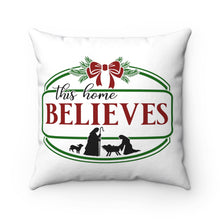 Load image into Gallery viewer, Christmas Pillow, Believes Pillow,  Farmhouse Christmas Pillow