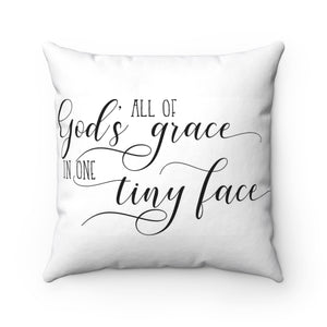 Nursery Pillow, All Gods Grace Farmhouse Nursery Pillow