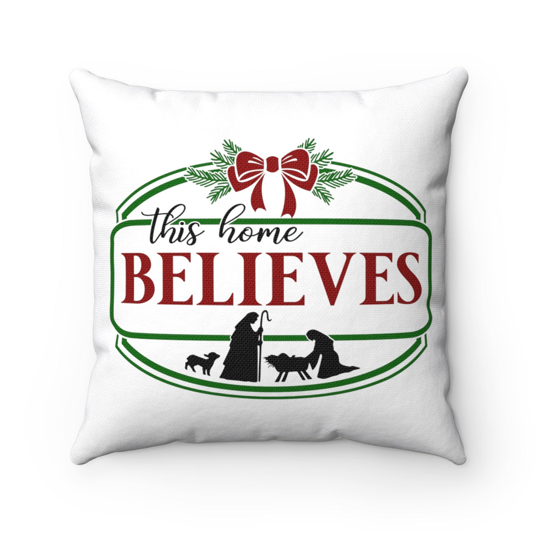 Christmas Pillow, Believes Pillow,  Farmhouse Christmas Pillow