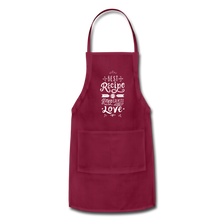 Load image into Gallery viewer, Adjustable Apron - burgundy