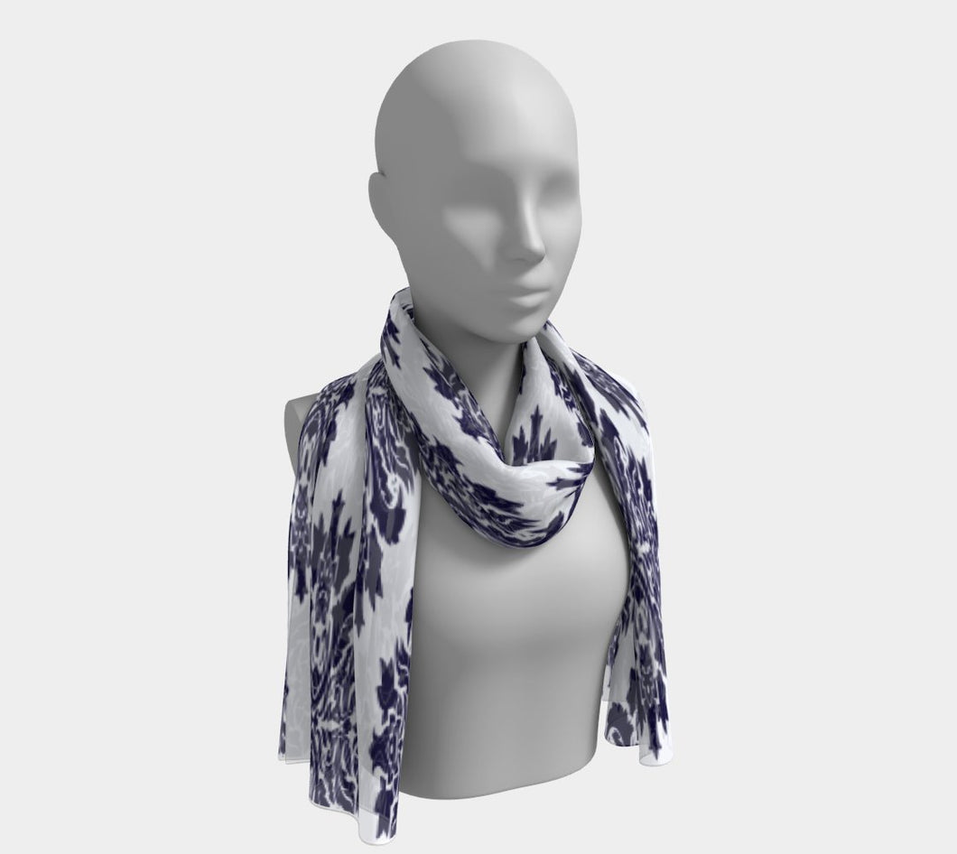 Long Scarf, Blue Scarf, Long Scarf for Women, Long Scarves, Long Scarves for Women, Scarves, Scarves and Wraps, Scarves for Women,