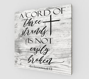 A Cord of Three Strands Sign, A Cord of 3 Strands, Wedding Sign, A Cord of Three Strands, Wedding Gift, Wedding Vow Sign, A Cord of Three