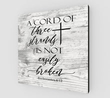 Load image into Gallery viewer, A Cord of Three Strands Sign, A Cord of 3 Strands, Wedding Sign, A Cord of Three Strands, Wedding Gift, Wedding Vow Sign, A Cord of Three