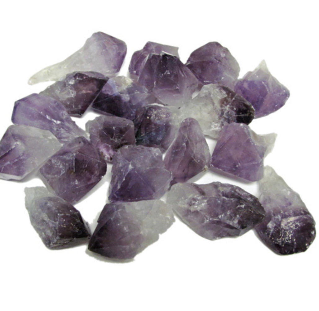 naturally terminated purple variety quartz crystal amethyst rough point stones peaceful sleep peaceful environment dispel negativity