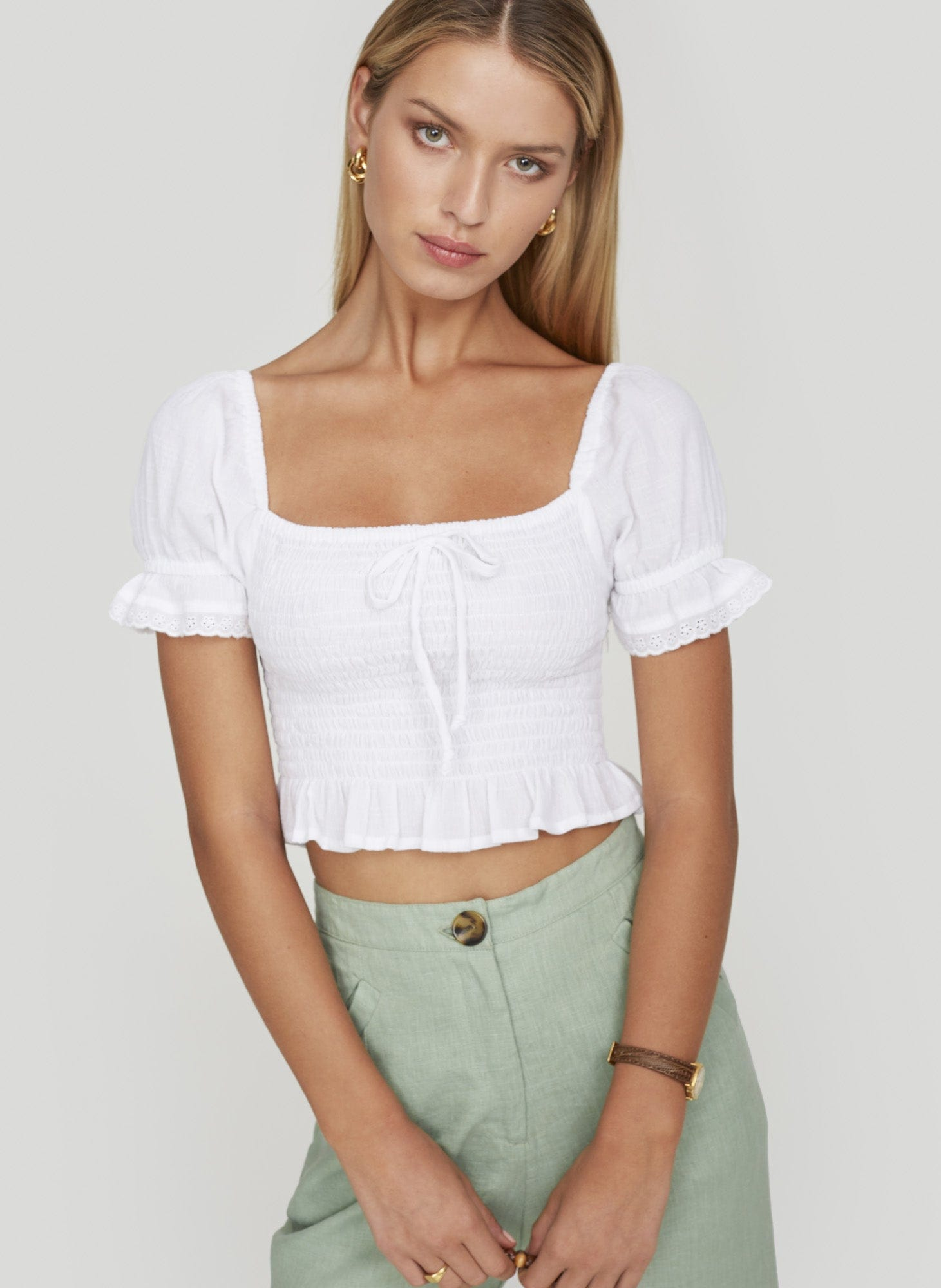 PLAIN WHITE - MARIE TOP