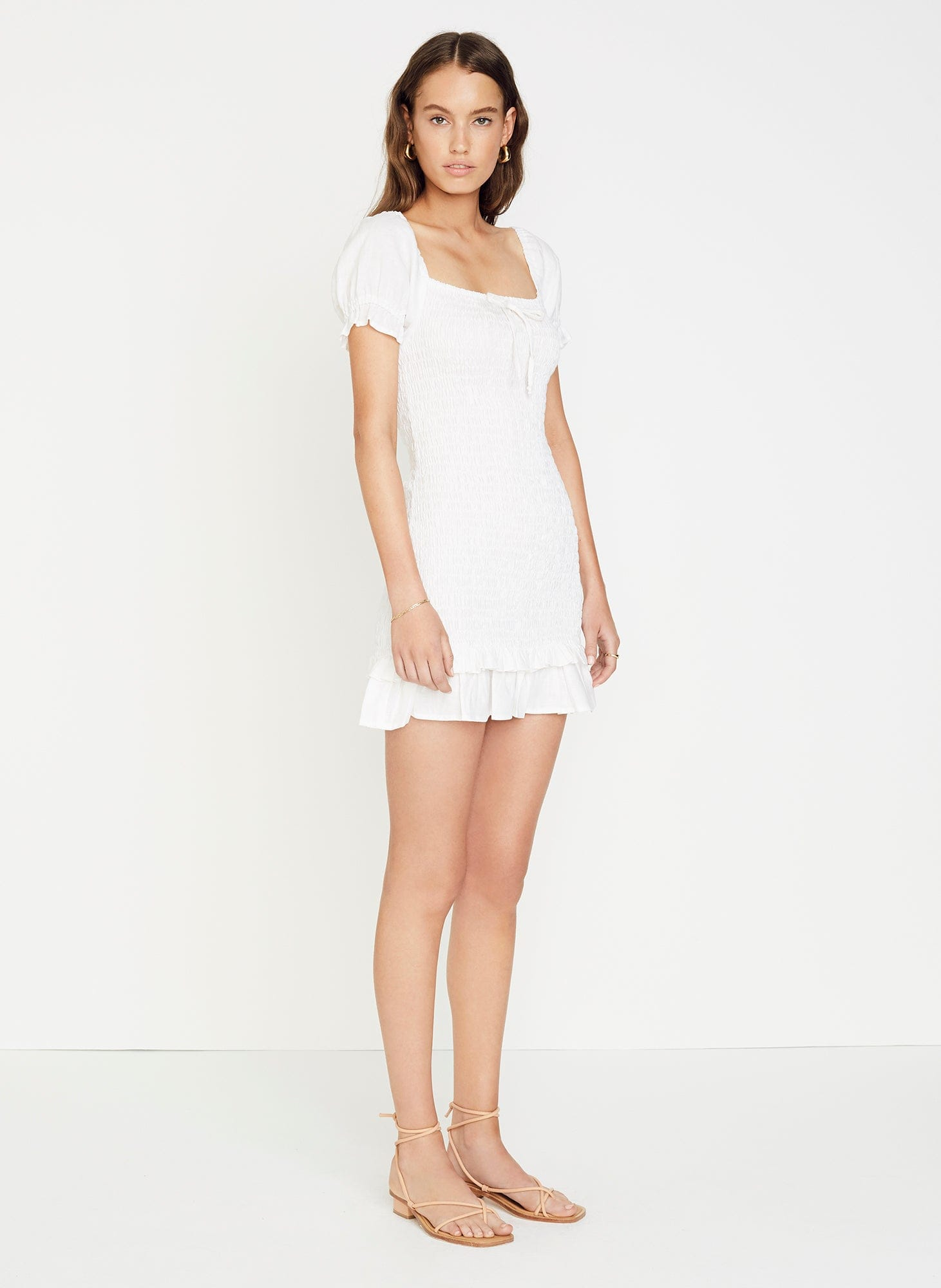 PLAIN WASHED WHITE - CETTE MINI DRESS