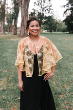 Embroidered Lace Poncho