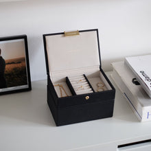 Load image into Gallery viewer, Black Jewellery Box
