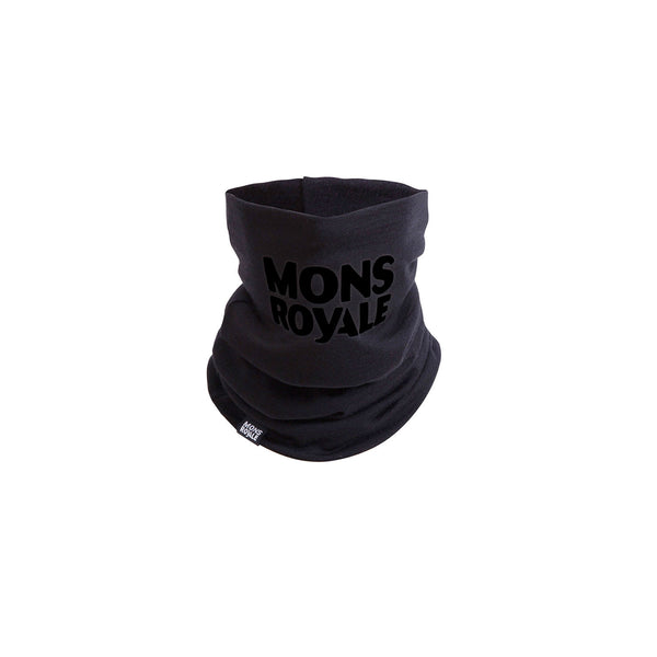 Mons Royale Double Up Neckwarmer - Black