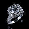 2.02ct round halo platinum