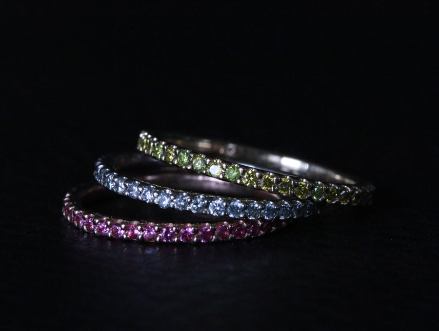 stackable sapphire bands