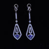 Geodeco Platinum Tanzanite and Diamond Earrings