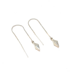 Diamond shape ear threaders