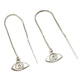 Evil eye ear threaders