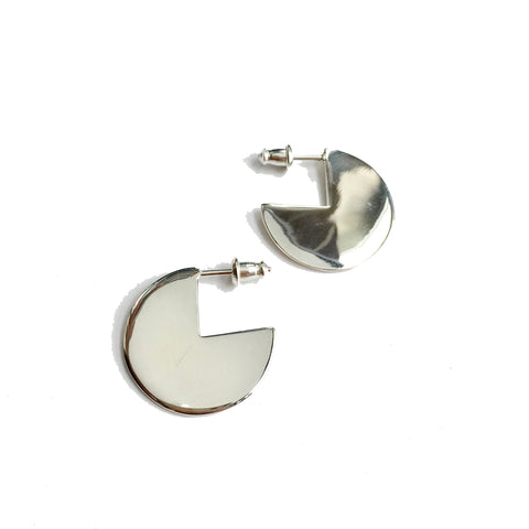 Quarter less small loop studs earrings