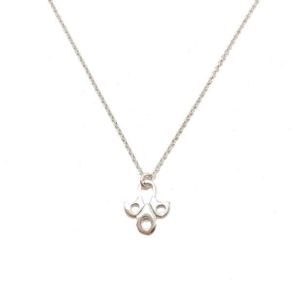 Lotus flower charm necklace