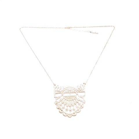 Medium Silver lace pendant