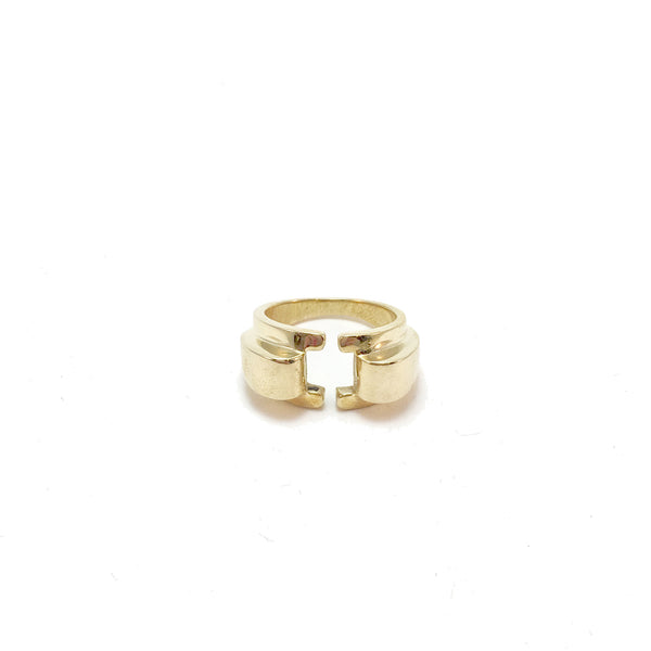 Open front Art Deco ring