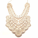 Statement Silver lace pendant necklace