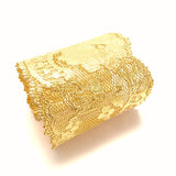 X Large Gold lace cuff
