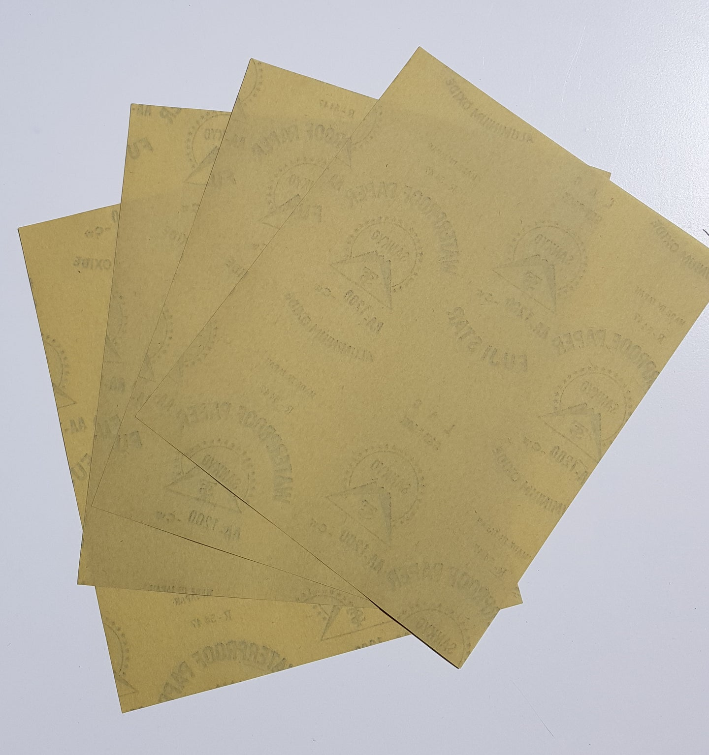 1200 GRIT FINE YELLOW PAPER