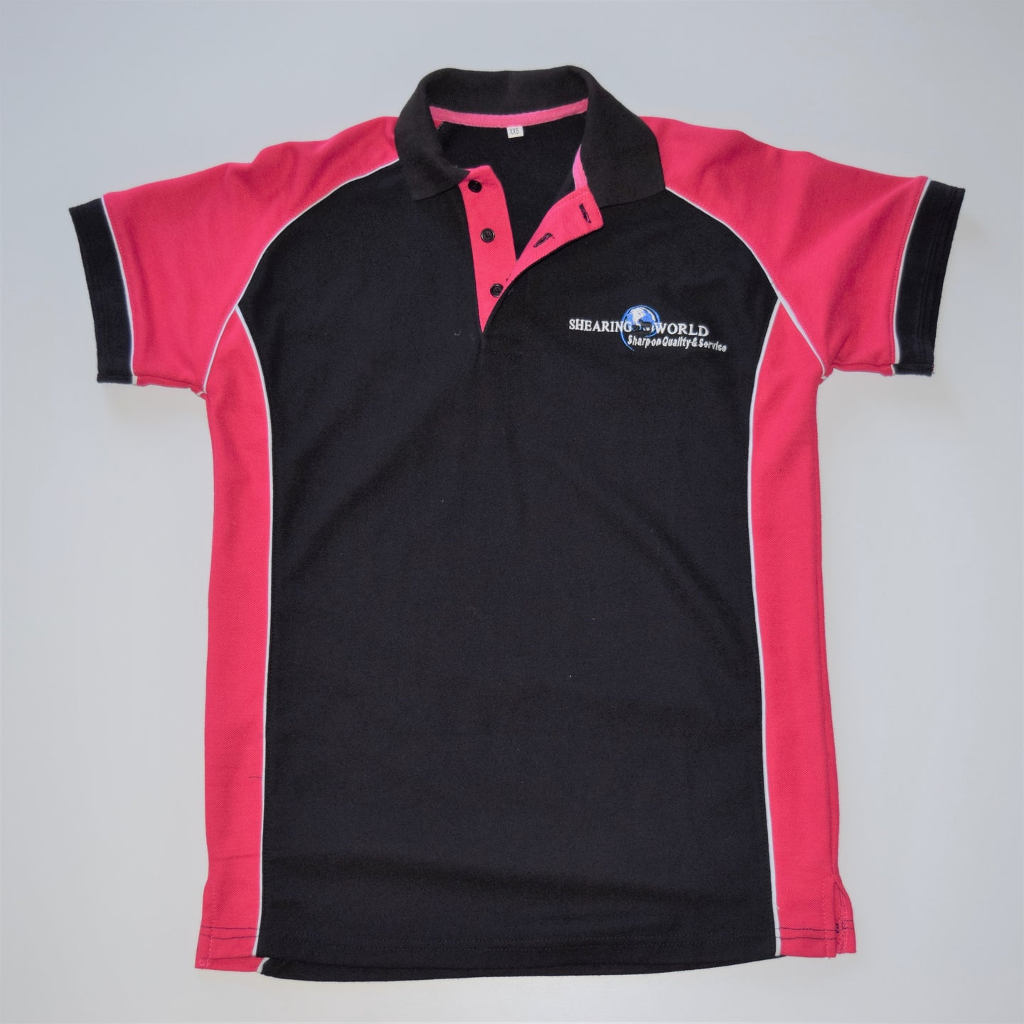 SHEARING WORLD PINK COTTON POLO