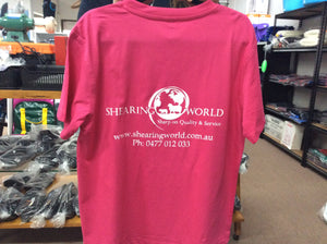 SHEARING WORLD COLOURED T-SHIRTS