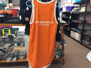 Shearing World Kids Coloured Singlet