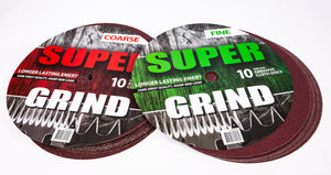 SUPER GRIND EMERY (BOX OF 10)