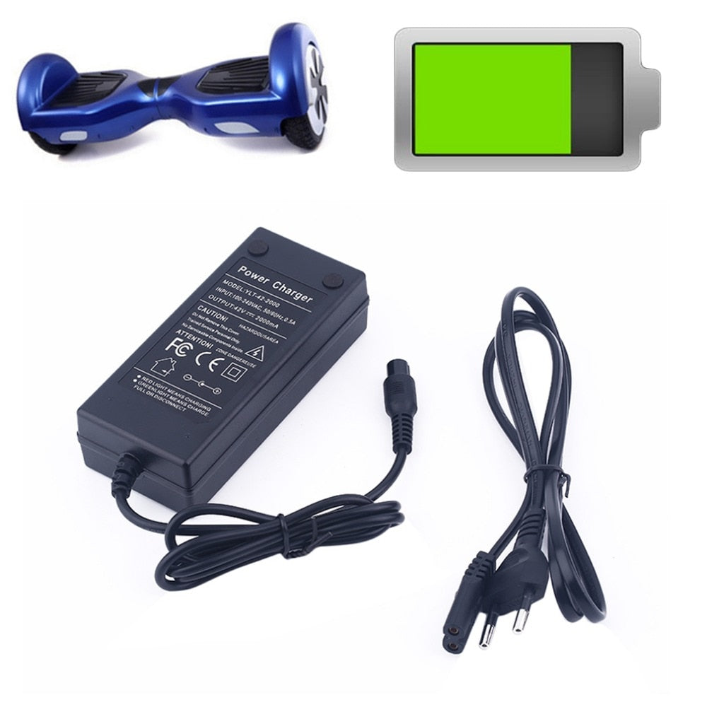 42V 2A Power Adapter Battery Charger for Electric Scooter Balance Hoverboard US