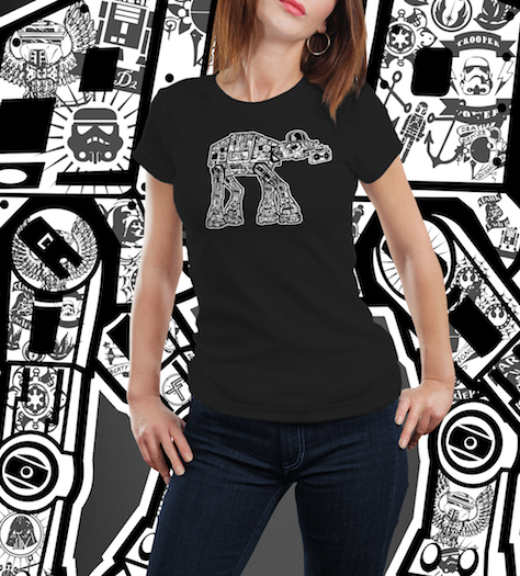 Inked AT AT-T-Shirt-Star Wars-Shirt Battle