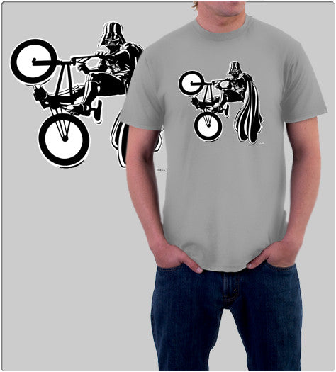 BMX Darth-T-Shirt-Star Wars-Shirt Battle