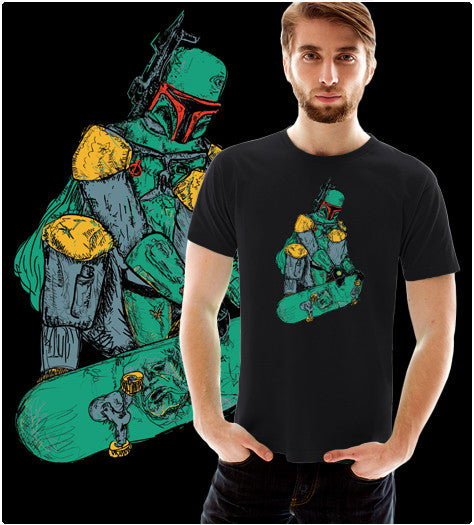 BOBASKATES-T-Shirt-Star Wars-Shirt Battle