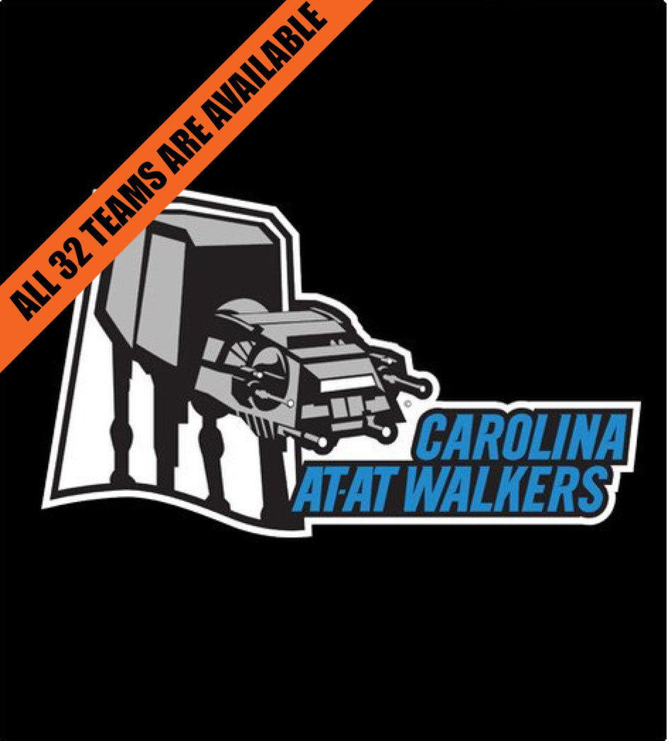 Carolina AtAt Walkers-T-Shirt-Star Wars-Shirt Battle