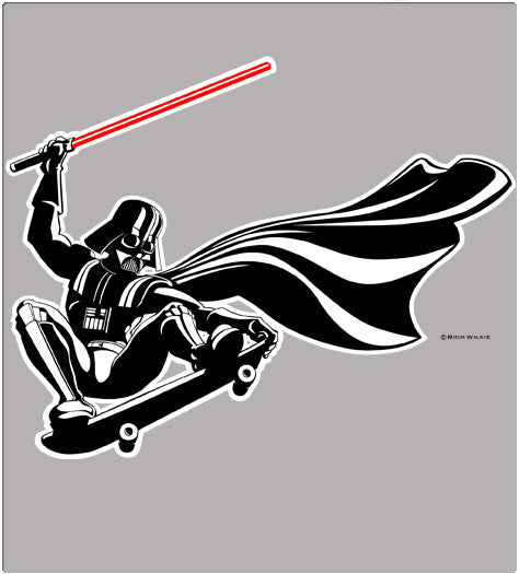 DARTH SKATES-T-Shirt-Star Wars-Shirt Battle