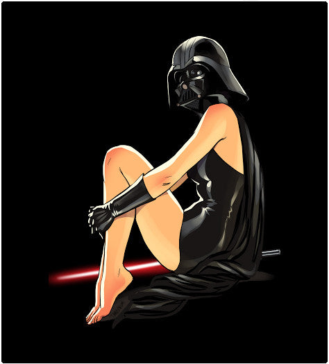 Darth Pin-Up-T-Shirt-Star Wars-Shirt Battle