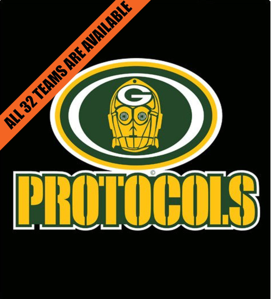 Green Bay Protocols-T-Shirt-Star Wars-Shirt Battle