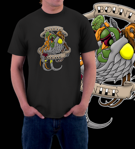 Bounty Hunter Tat-T-Shirt-Star Wars-Shirt Battle