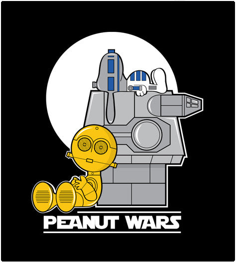 PEANUT WARS-T-Shirt-Star Wars-Shirt Battle