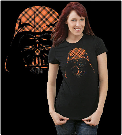 PLAID DARTH-T-Shirt-Star Wars-Shirt Battle