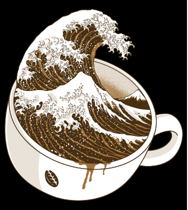 The Great Wave off Coffee