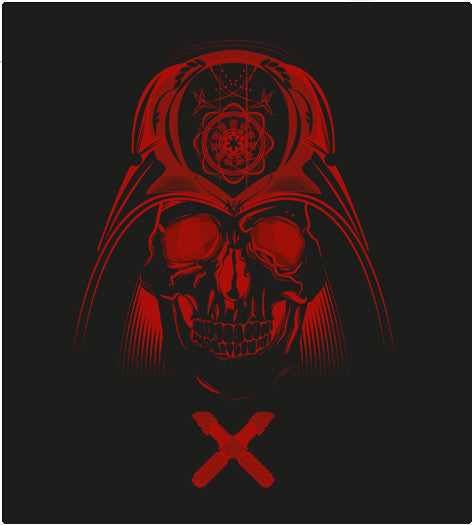 SKULL VADER-T-Shirt-Star Wars-Shirt Battle