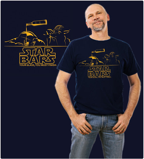 STAR BARS-T-Shirt-Star Wars-Shirt Battle