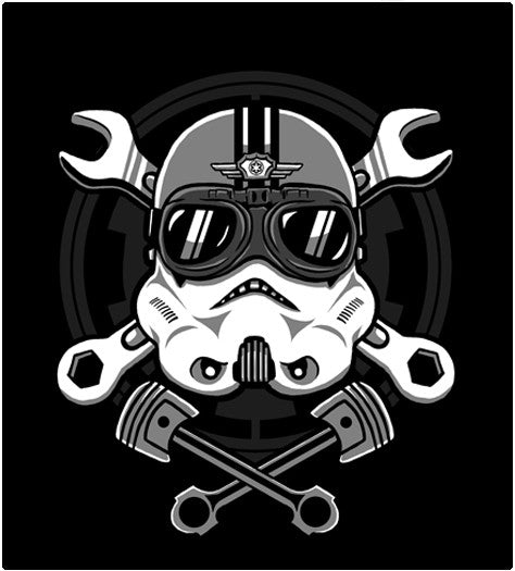 Trooper Racer-T-Shirt-Star Wars-Shirt Battle