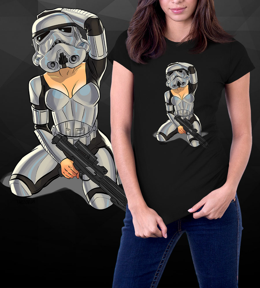 Trooper Pin-up-T-Shirt-Star Wars-Shirt Battle