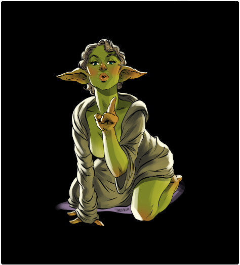 Yoda Pin-Up-T-Shirt-Star Wars-Shirt Battle