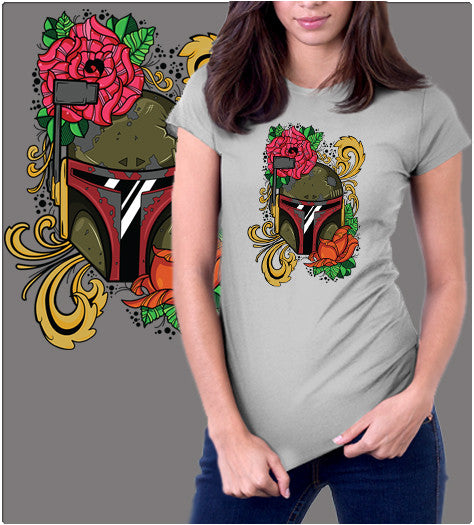 Boba Flower-T-Shirt-Star Wars-Shirt Battle