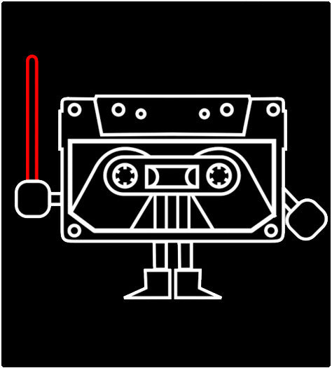 Dark Cassette-T-Shirt-Star Wars-Shirt Battle
