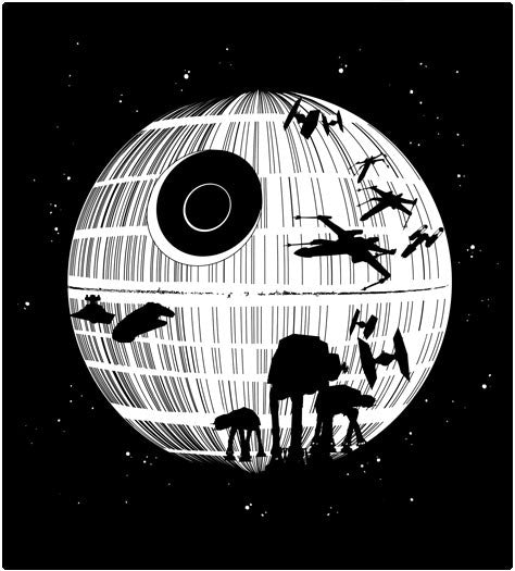 Death Star-T-Shirt-Star Wars-Shirt Battle